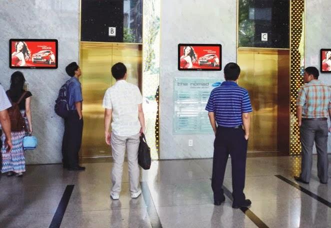 Quảng cáo LCD & Poster Frame trong thang máy