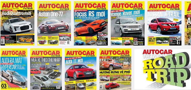Bảng giá quảng cáo Tạp chí Autocar 2015