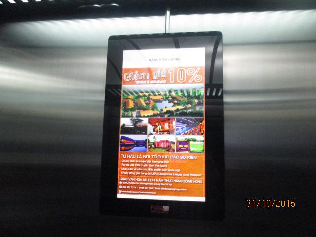 Bảng giá quảng cáo poster frame trong thang máy HCM