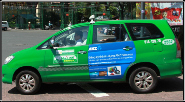 Bảng giá quảng cáo trên xe taxi tại Hà Nội – Thành Phố HCM