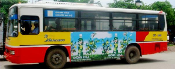 Bảng giá quảng cáo trên xe bus