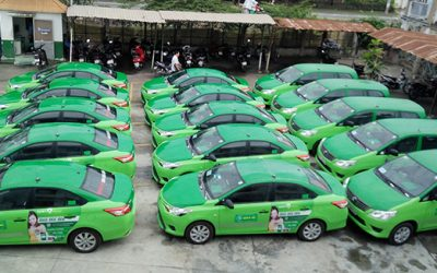 Brandcom phủ rộng thương hiệu tối đa trên taxi Mai Linh Hà Nội