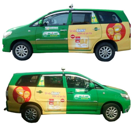 Brandcom quảng cáo hiệu quả trên taxi Mai Linh TP.HCM