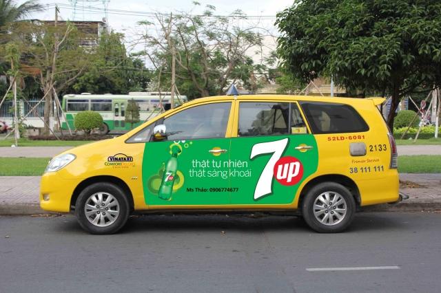Dịch vụ quảng cáo trên Vina Taxi