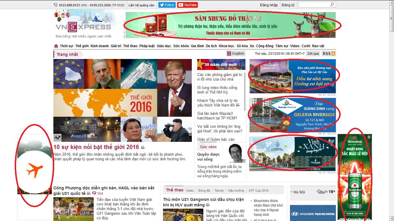 Các hình thức quảng cáo trên báo điện tử cho bạn lựa chọn