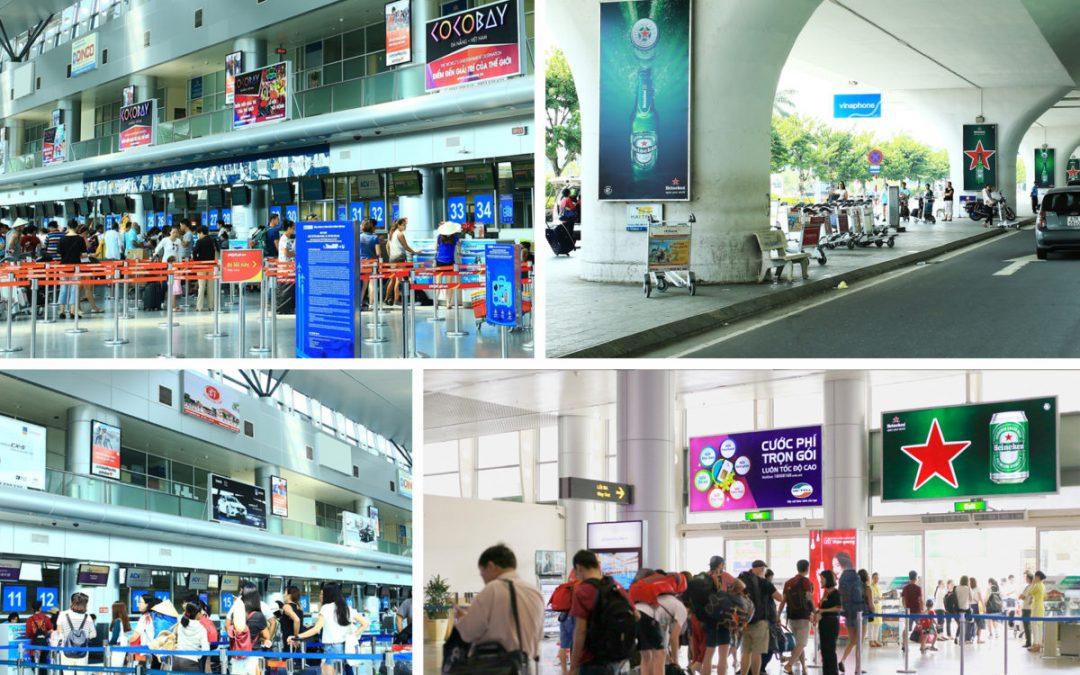 Tạo ấn tượng thương hiệu với quảng cáo tại sân bay