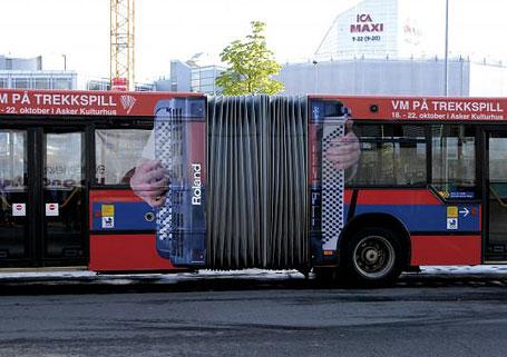 Quảng cáo xe buýt một cách thông minh và sáng tạo (Phần 1)