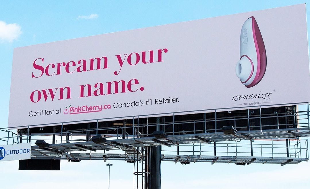 """Billboard ấn tượng quảng cáo """"đồ chơi"""" dành riêng cho phụ nữ"""