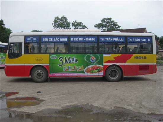 Brandcom quảng cáo trên xe bus tại Bắc Ninh