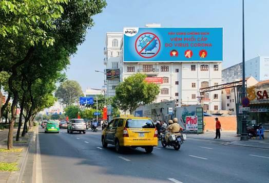 Quảng cáo ngoài trời tăng thông tin phòng chống dịch nCoV