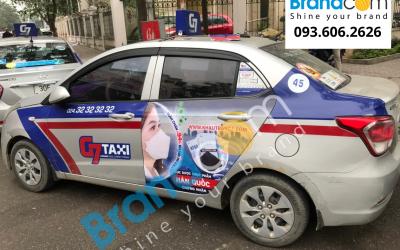 Dự án quảng cáo trên taxi G7 cho thương hiệu khẩu trang