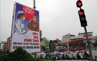 Tranh cổ động giúp Việt Nam đánh bại Covid-19