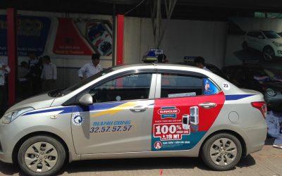 Quảng cáo taxi tại Hà Nội đưa thương hiệu tiếp cận hàng triệu khách hàng