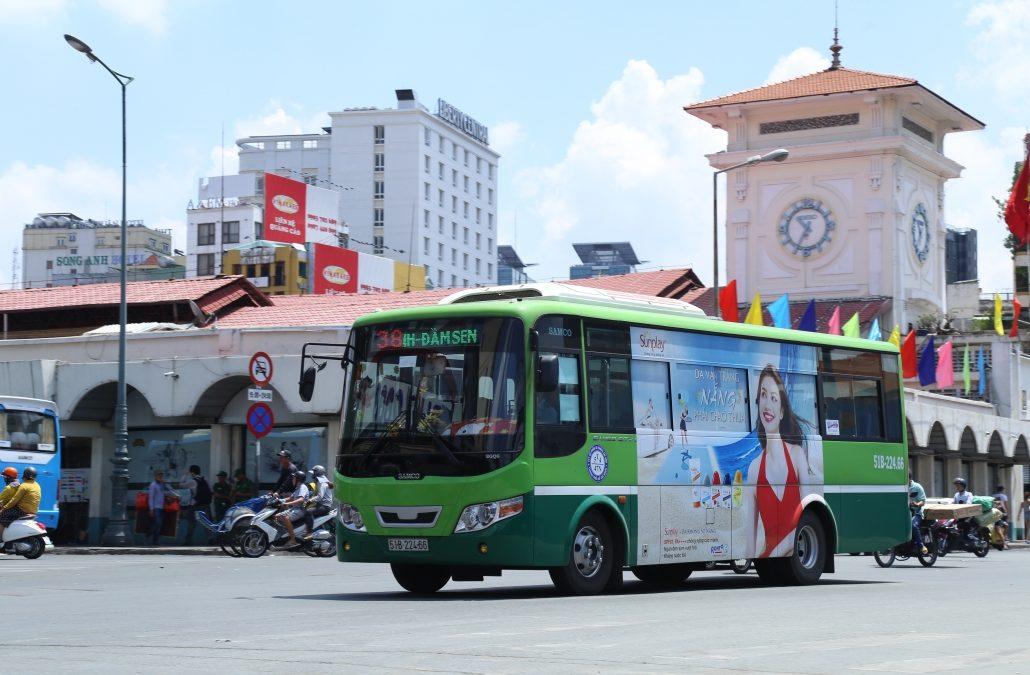 Quảng cáo trên xe bus tại Hồ Chí Minh là hình thức được các thương hiệu ưu tiên lựa chọn