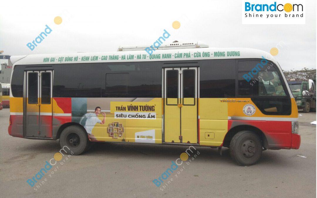 Quảng cáo trên xe bus tại Quảng Ninh gia tăng độ nhận diện thương hiệu