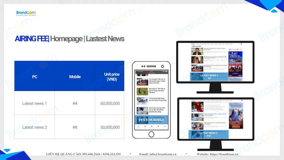 Bảng giá quảng cáo trên Zing.vn năm 2021